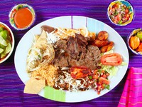 Arrachera beef flank steak Mexican dish chili. Фото TONO BALAGUER SL - Depositphotos