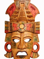 Hand carved wooden Mayan mask. Фото Alexander Sviridov - Depositphotos