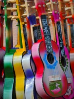 Acoustic cutaway guitar in Progresso - Mexico. Фото Costin Constantinescu - Depositphotos