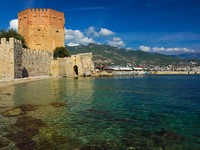 Alanya, Turkey. Kizil Kule (Red Tower). Фото Lenar Musin - Depositphotos_14329189
