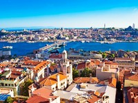 Istanbul. Panoramic View from Galata tower to Golden Horn, Turkey. Фото sailorr - Depositphotos_3217339