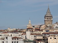 Galata Tower, view from Sea side. Istanbul, Turkey. Фото klemenr - Depositphotos_8686100