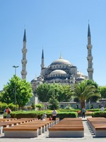 Sultan Ahmed Mosque in Istanbul, Turkey. Фото sailorr - Depositphotos_1009323