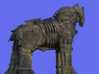 Trojan Horse in Canakkale Square, Turkey. Фото mg1408 - Depositphotos_3499745