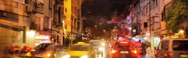 Night traffic in rainy city. Istanbul, Turkey. Andrey Pavlov - Depositphotos_1721874