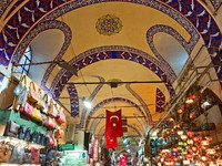 Grand bazaar shops in Istanbul. Turkey. Фото Luciano Mortula - Depositphotos_12420909