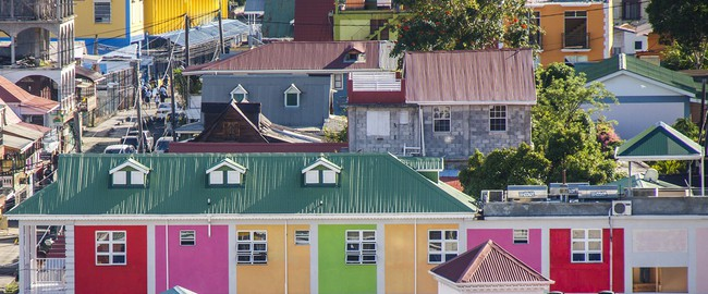 Барбадос. Colorful buildings in the town of Dominia, Barbados. Фото Darryl Brooks - Depositphotos