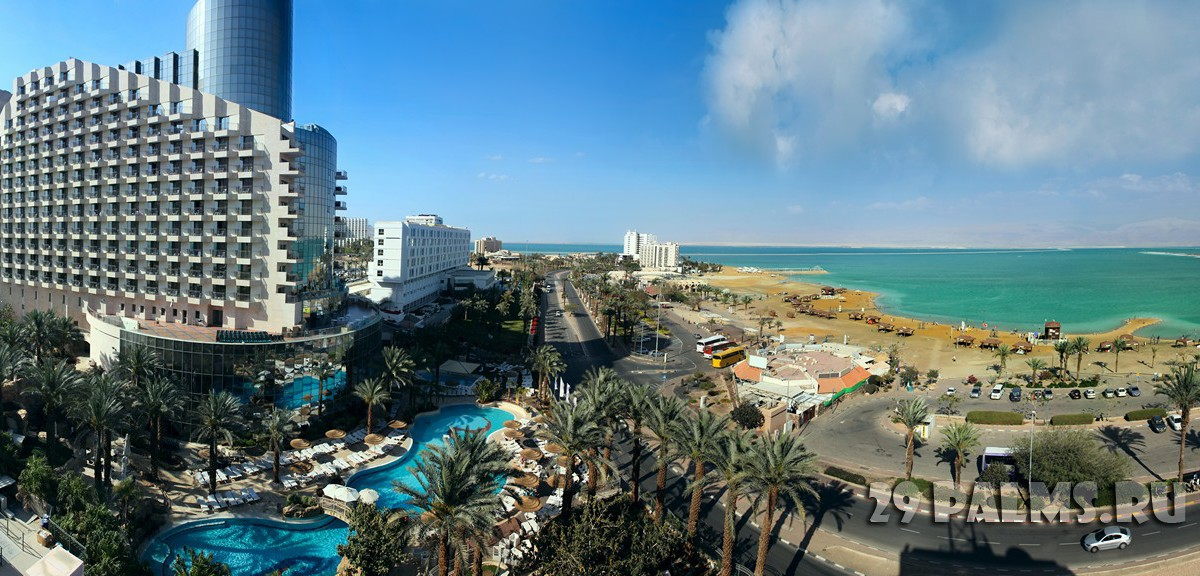 Израиль. Мертвое море. Hotels on Dead Sea coast, Israel. Panorama. Фото Tatiana Belova - Depositphotos
