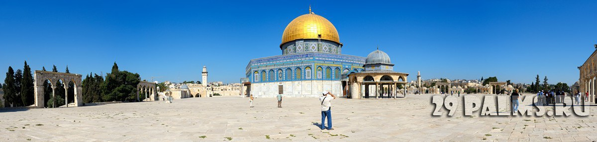 Израиль. Dome of the Rock and El Aqsa Mosque in Jerusalem, Israel. Фото Vladimir Blinov - Depositphotos