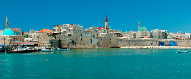 Израиль. Panorama of Old Akko - city of crusaders, Israel. Фото Yuliya Kryzhevska - Depositphotos