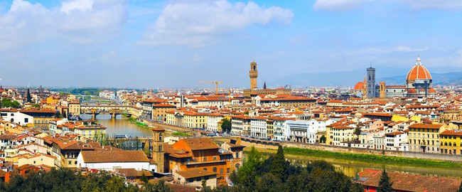 Италия. Флоренция. Panorama in Florence, six parts, Toscana, Italy. Фото babenkodenis - Depositphotos