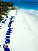 Барбадос. Crane beach in Barbados, Caribbeans, one of the most beautiful in the world. Фото sophie Vigneault - Depositphotos