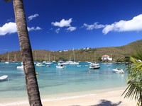 Сент Винсент и Гренадины. Tropical bay on Bequia Island, St. Vincent in the Caribbean. ФотоAchim Baque - Depositphotos