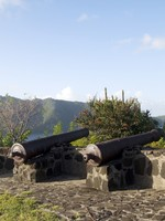 St. Vincent, Kingstown. Old canons fort hamilton bequia st. vincent and the grenadines. Фото Robert Lerich - Depositphotos