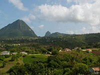 Сент-Люсия. View of the famous Pitons in Saint Lucia, Caribbean (over 700m high). Фото Luis Santos - Depositphotos