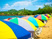 Сент-Люсия. Beautiful beach in Saint Lucia, Caribbean Islands. Фото matfron - Depositphotos