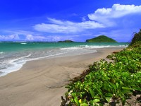 Сент-Люсия. Anse de Sables Beach - Saint Lucia. Tropical beach on the Caribbean island of Saint Lucia. Фото Jason Ross - Depositphotos