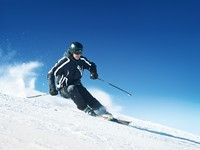 Горные лыжи. Skier in high mountains. Фото  dell640 - Depositphotos