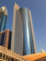 ОАЭ. Дубаи. View at Sheikh Zayed Road skyscrapers i. Фото Ihar Balaikin - Depositphotos