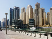 ОАЭ. Дубай Марина. Modern buildings in Dubai Marina. Фото Observer - Depositphotos