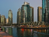 ОАЭ. Дубаи Марина. Dubai Marina at sunset. UAE. Фото Observer - Depositphotos