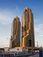 ОАЭ. Дубаи Марина. Dubai Marina at sunset. Фото Observer - Depositphotos