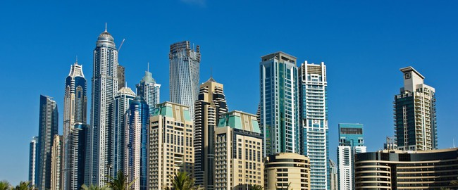 ОАЭ. Дубаи Марина. Modern buildings in Dubai Marina. Фото Observer - Depositphotos