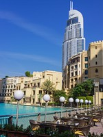 ОАЭ. Дубаи. View of Hotel The Address in The Dubai Mall. ФотоObserver - Depositphotos