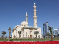 ОАЭ. Шарджа. Mosque in Sharjah City, UAE. Фото Philip Lange - shutterstock