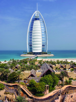 ОАЭ. Дубай. Burj Al Arab. View from Beit Al Bahar