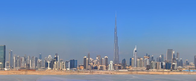 ОАЭ. Панорама Дубая. Panorama Dubai city. City centre, skyscrapers. Фото evgeniapp - Depositphotos