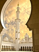 Абу-Даби. Мечеть шейха Зайда. Sheikh Zayed Mosque in Abu Dhabi City. Фото rahhal - Depositphotos