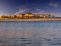 ОАЭ. Абу-Даби. Desert Islands Resort & Spa by Anantara. Coastal view of Watersports Centre