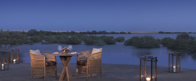 ОАЭ. Абу-Даби. Desert Islands Resort & Spa by Anantara. Private Dining by Design experience