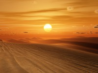 ОАЭ. Пустыня Руб-эль-Хали (Rub' al Khali)Desert sunset. Фото magann -Depositphotos
