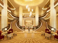 ОАЭ. Абу-Даби. The St. Regis Abu Dhabi. Hotel Exterior. Reception Hall - Grand Staircase