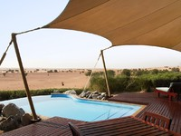 ОАЭ. Дубай. Al Maha, A Luxury Collection Desert Resort & Spa. Bedouin Suite private deck