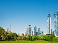 ОАЭ. Дубай. A general view of park in Dubai, UAE. Фото Larysa Kryvoshapka - Depositphotos
