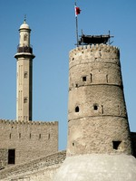 ОАЭ. Дубай. Tower and minaret in old fort area of dubai. Фото Jacek Malipan - Depositphotos