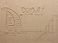 ОАЭ. Дубай. Dubai painted by in the sand. Фото Oleksandr Sobko - Depositphotos