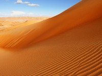 ОАЭ.  A view of the rolling sand dunes of the Arabian desert. Фото Sophie_James  - Depositphotos