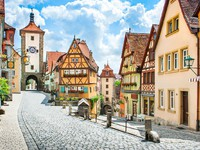Германия. Rothenburg ob der Tauber, Franconia, Bavaria, Germany Фото jakobradlgruber - Depositphotos
