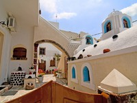 Греция. Санторини. Santorini beautiful buildings. Фото Anna Maloverjan - Depositphotos