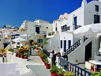 Греция. Санторини. Santorini, resorts of Fira. Фото Maugli - Depositphotos