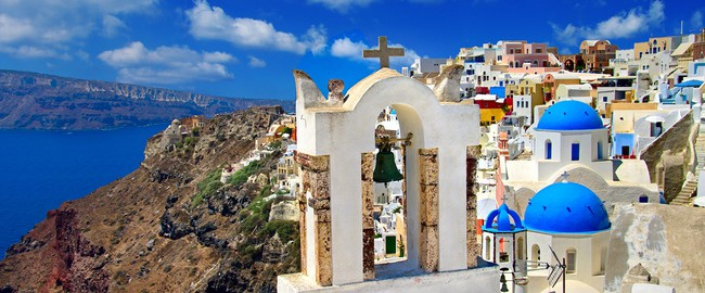 Греция. Санторини. Colors of Santorini, Greek series. Фото Maugli - Depositphotos