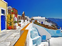 Греция. Санторини. Colorful Greece - Santorini. Фото Maugli - Depositphotos