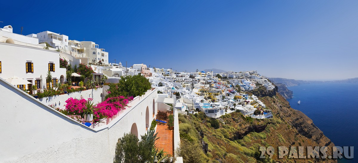 Греция. Санторини. Santorini View - Greece. Фото Violin - Depositphotos