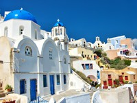 Греция. Санторини. Beautiful view of Santorini. Фото Maugli - Depositphotos