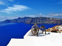 Греция. Санторини. Santorini views, Oia village. Фото Maugli - Depositphotos