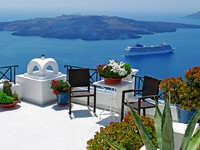 Греция. Санторини. Beautiful Thira town (Santorini). Фото Maugli - Depositphotos
